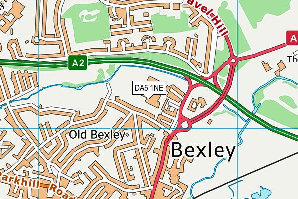 Beths Grammar School map (DA5 1NE) - OS VectorMap District (Ordnance Survey)
