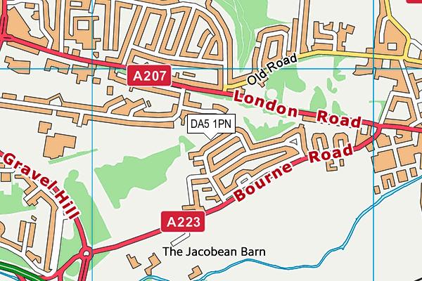 DA5 1PN map - OS VectorMap District (Ordnance Survey)