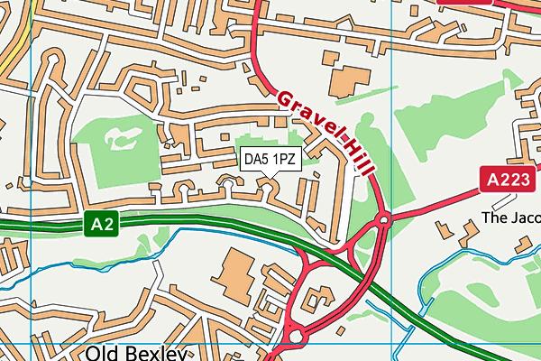 DA5 1PZ map - OS VectorMap District (Ordnance Survey)