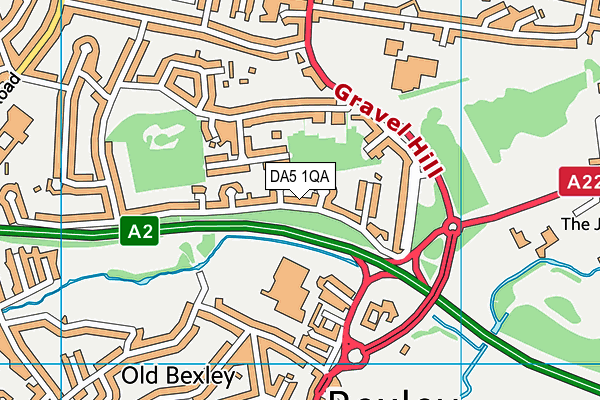 DA5 1QA map - OS VectorMap District (Ordnance Survey)
