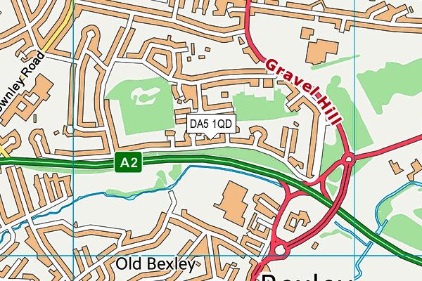 DA5 1QD map - OS VectorMap District (Ordnance Survey)