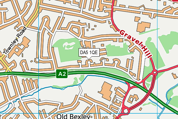 DA5 1QE map - OS VectorMap District (Ordnance Survey)
