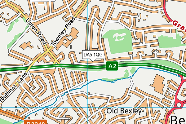DA5 1QG map - OS VectorMap District (Ordnance Survey)