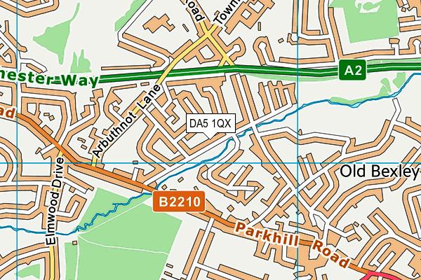 DA5 1QX map - OS VectorMap District (Ordnance Survey)