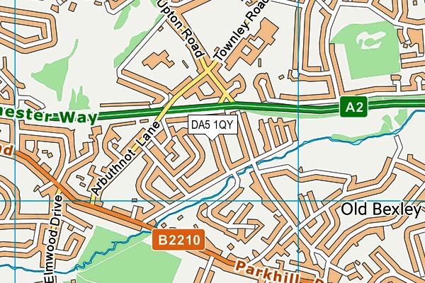 DA5 1QY map - OS VectorMap District (Ordnance Survey)