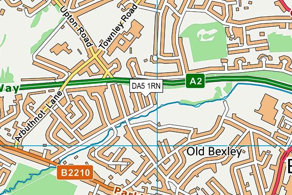 DA5 1RN map - OS VectorMap District (Ordnance Survey)