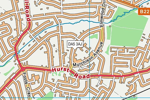 Hurst Primary School map (DA5 3AJ) - OS VectorMap District (Ordnance Survey)