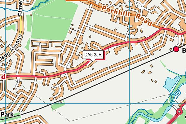 Old Bexley Church of England School map (DA5 3JR) - OS VectorMap District (Ordnance Survey)