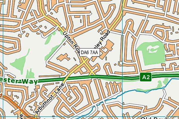 DA6 7AA map - OS VectorMap District (Ordnance Survey)