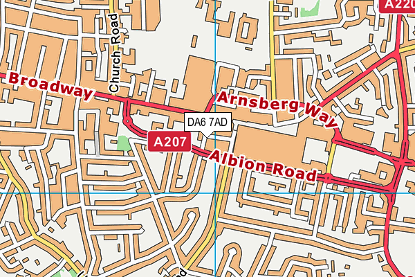 Anytime Fitness (Bexleyheath) map (DA6 7AD) - OS VectorMap District (Ordnance Survey)