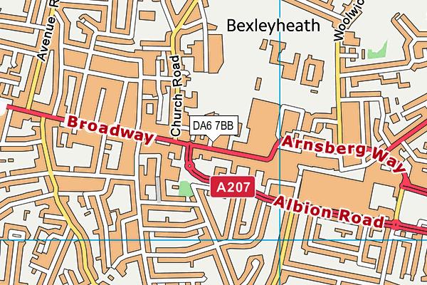 DA6 7BB map - OS VectorMap District (Ordnance Survey)