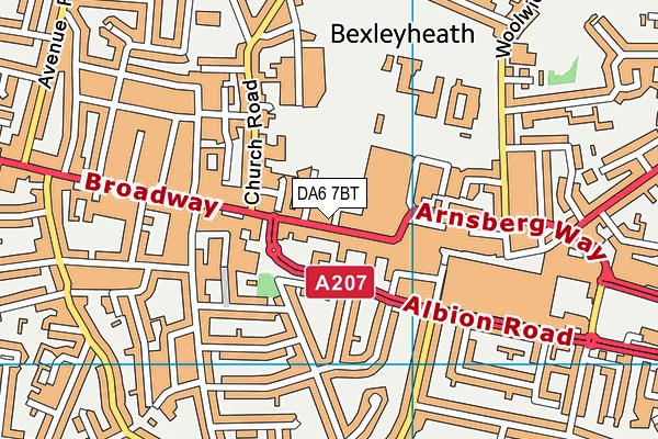 DA6 7BT map - OS VectorMap District (Ordnance Survey)