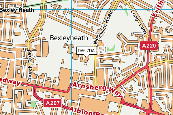 Bexleyheath Academy map (DA6 7DA) - OS VectorMap District (Ordnance Survey)