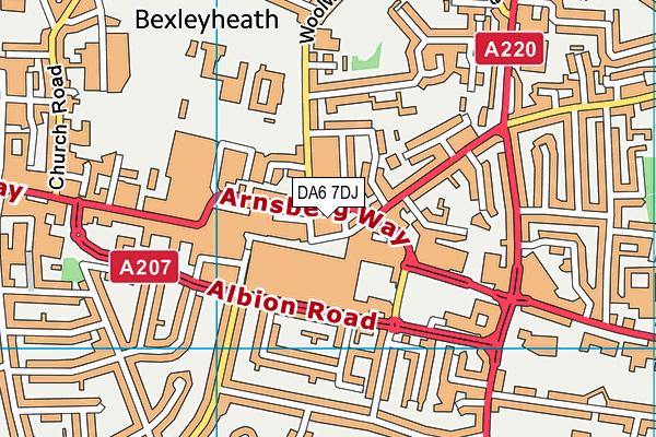 DA6 7DJ map - OS VectorMap District (Ordnance Survey)