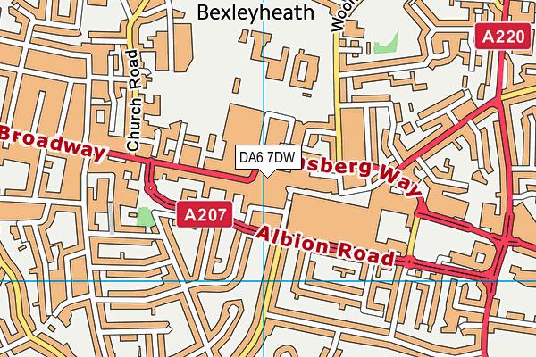 DA6 7DW map - OS VectorMap District (Ordnance Survey)
