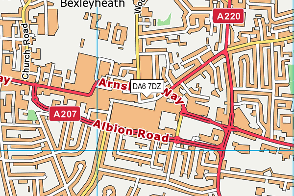 DA6 7DZ map - OS VectorMap District (Ordnance Survey)