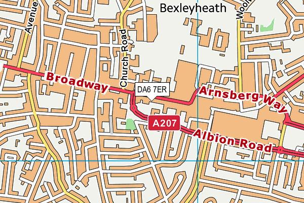 DA6 7ER map - OS VectorMap District (Ordnance Survey)