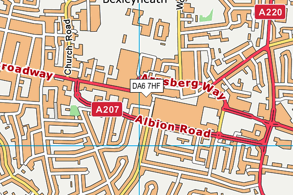 DA6 7HF map - OS VectorMap District (Ordnance Survey)