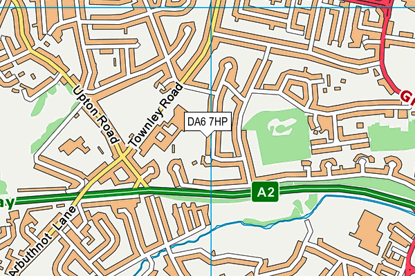 DA6 7HP map - OS VectorMap District (Ordnance Survey)