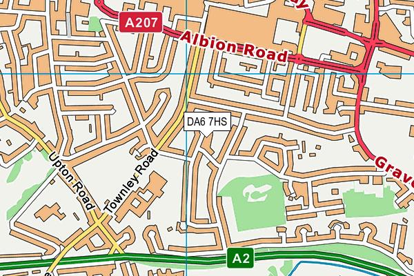 DA6 7HS map - OS VectorMap District (Ordnance Survey)