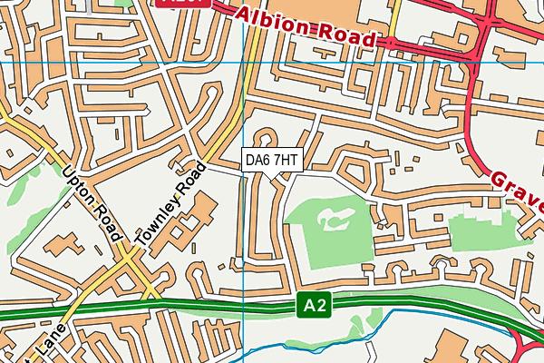 DA6 7HT map - OS VectorMap District (Ordnance Survey)