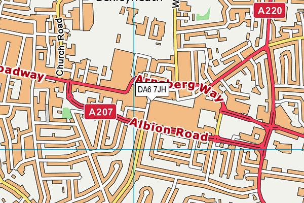 DA6 7JH map - OS VectorMap District (Ordnance Survey)