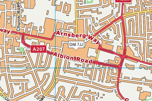 DA6 7JJ map - OS VectorMap District (Ordnance Survey)