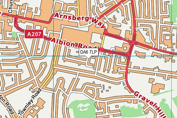 DA6 7LP map - OS VectorMap District (Ordnance Survey)