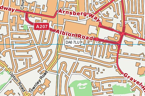 DA6 7LU map - OS VectorMap District (Ordnance Survey)