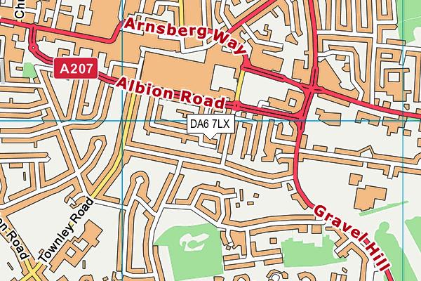 DA6 7LX map - OS VectorMap District (Ordnance Survey)