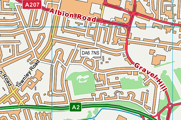 DA6 7NS map - OS VectorMap District (Ordnance Survey)
