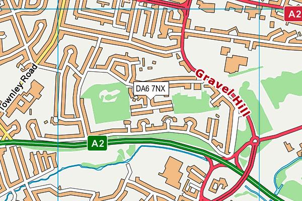 DA6 7NX map - OS VectorMap District (Ordnance Survey)
