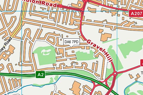DA6 7PD map - OS VectorMap District (Ordnance Survey)