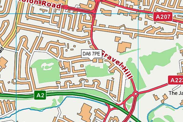 DA6 7PE map - OS VectorMap District (Ordnance Survey)