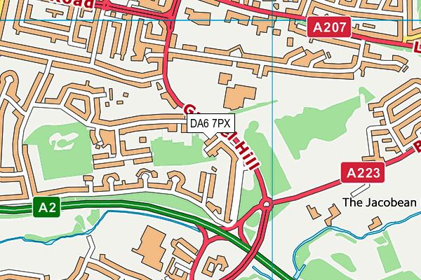 DA6 7PX map - OS VectorMap District (Ordnance Survey)