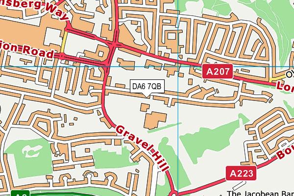 St Columba's Catholic Boys' School map (DA6 7QB) - OS VectorMap District (Ordnance Survey)