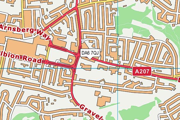 Gravel Hill Primary School map (DA6 7QJ) - OS VectorMap District (Ordnance Survey)