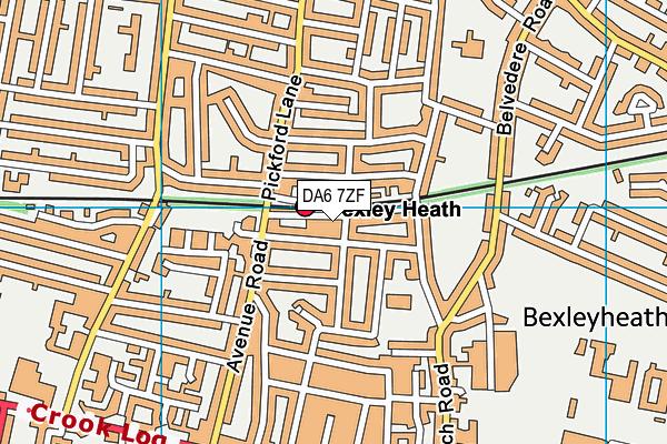 DA6 7ZF map - OS VectorMap District (Ordnance Survey)