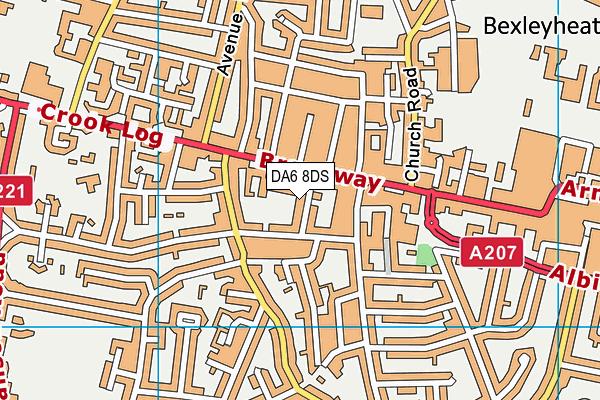 Changes Womens Health Club (Closed) map (DA6 8DS) - OS VectorMap District (Ordnance Survey)