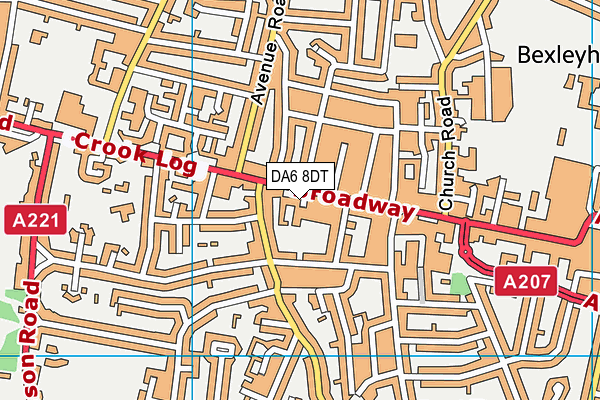 Better Gym Bexleyheath map (DA6 8DT ) - OS VectorMap District (Ordnance Survey)