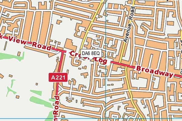 Crook Log Primary School map (DA6 8EQ) - OS VectorMap District (Ordnance Survey)