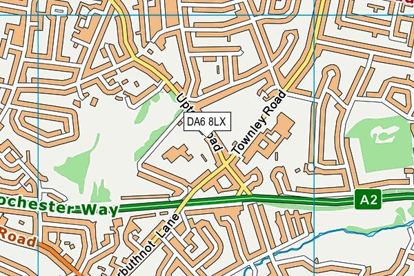 DA6 8LX map - OS VectorMap District (Ordnance Survey)