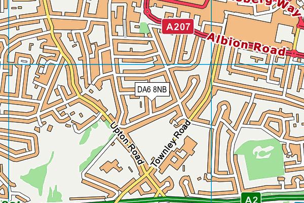 DA6 8NB map - OS VectorMap District (Ordnance Survey)