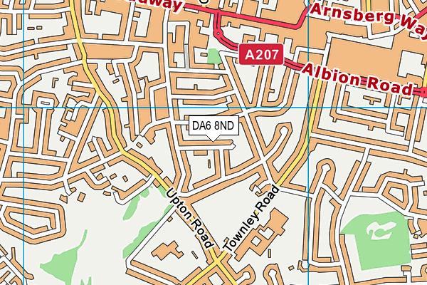 DA6 8ND map - OS VectorMap District (Ordnance Survey)