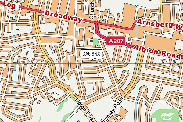 DA6 8NX map - OS VectorMap District (Ordnance Survey)