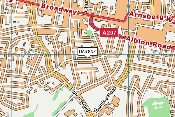DA6 8NZ map - OS VectorMap District (Ordnance Survey)