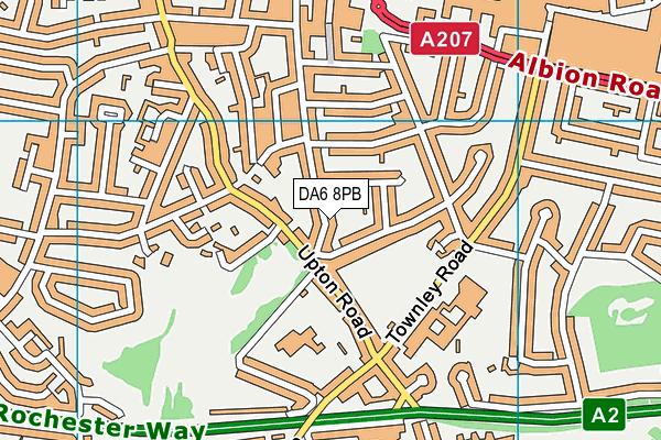 DA6 8PB map - OS VectorMap District (Ordnance Survey)