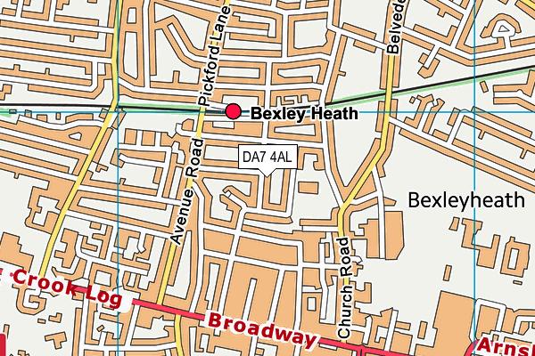 DA7 4AL map - OS VectorMap District (Ordnance Survey)