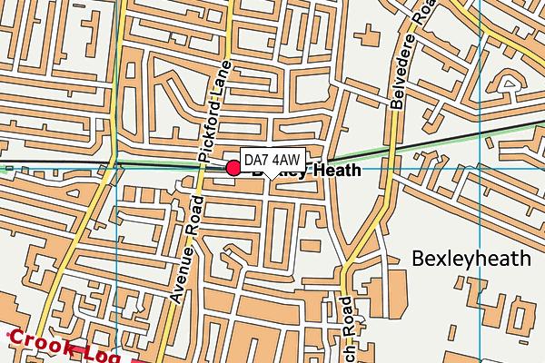 DA7 4AW map - OS VectorMap District (Ordnance Survey)