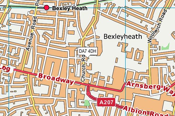 DA7 4DH map - OS VectorMap District (Ordnance Survey)